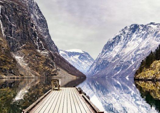 View from Gudvangen, Norway