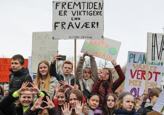 Klimademonstrasjon i Oslo