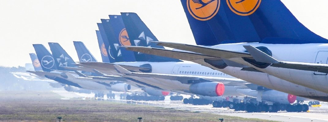 Lufthansa planes grounded due to COVID-19